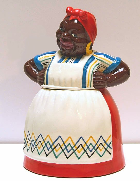 The Mammy cookie jar was popular in its day and remains a popular item with collectors of Black Memorabilia. It was made with a variety of decorations over an extended period beginning in the early 1940s.