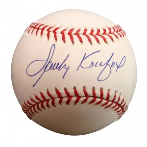 This Sandy Koufax autograph on the Sweet Spot but is lightly smudged, bringing the value down to $250.