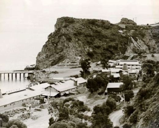 The Catalina pottery plant at Pebbly Beach, circa 1932.