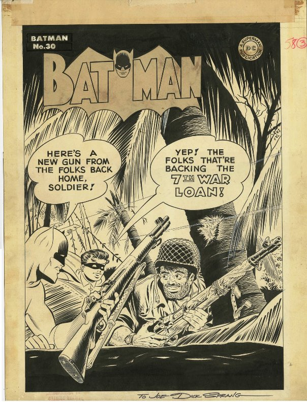 This cover for Batman #30 from DC (1945) by legendary Bat-artist Dick Sprang is currently up for bid.