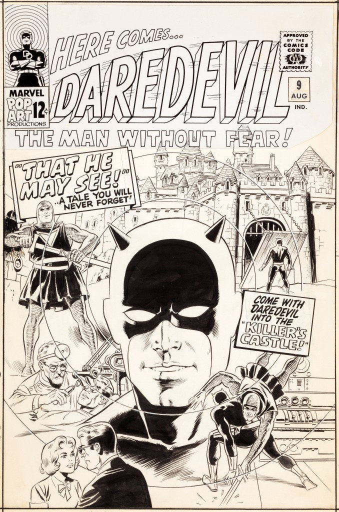 The original cover art for Daredevil #9, by fan favorite Wally Wood, sold for $149,375.