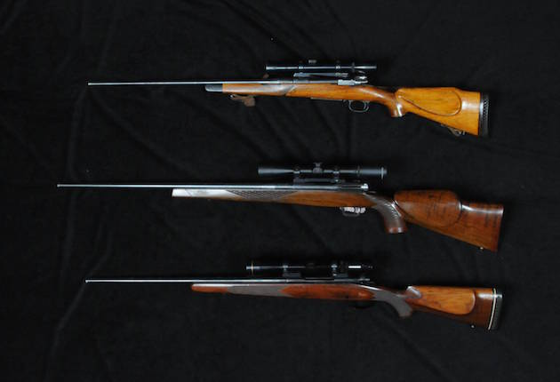Three of Pete's rifles.
