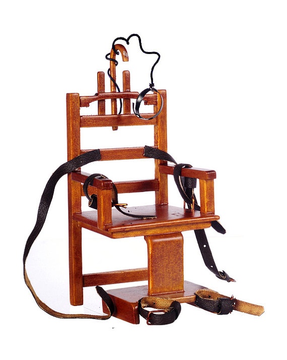 "You can buy a 1:12 scale miniature of ""Old Sparky"" on Etsy for $39."
