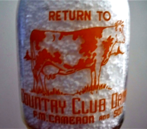 brandenton florida country club milk bottle