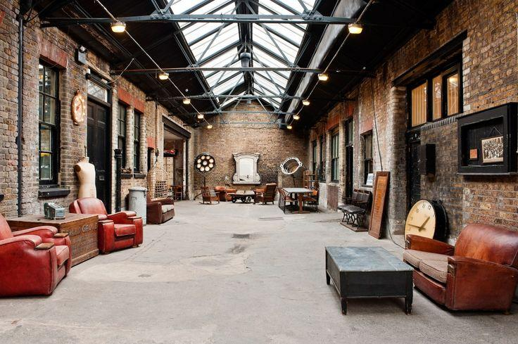 vintage industrial chic loft design