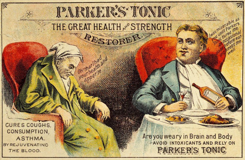 parker's tonic 1800s ad