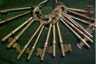 vintage padlock keys
