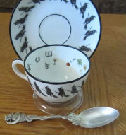witch fortune telling tea set