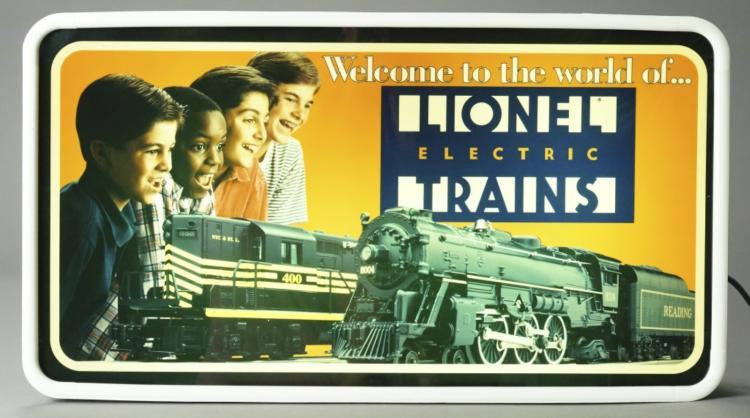 lionel train sign