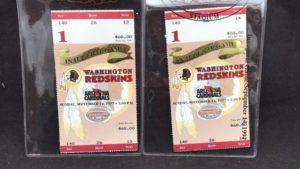 Washington Redskins FedEx Field Inaugural tickets Sept 14, 1997