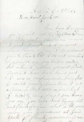 The Letters of John M. Jackson--February 9, 1864