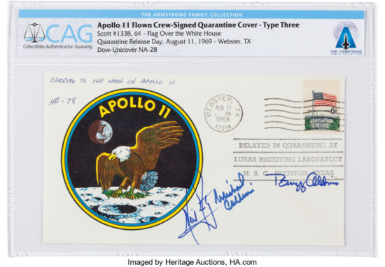First Moonwalker Neil Armstrong's Private Collection to be Sold at Heritage Auctions