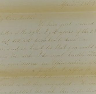 The Letters of John M. Jackson--April 1, 1864