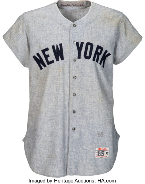Record-shattering Mickey Mantle Jersey Stuns Hobby in $8.6 Million Heritage Sports Platinum Night Auction
